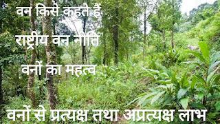 वन Forests, वनों का महत्व, राष्ट्रीय वन नीति