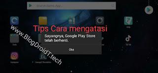 Google Play Berhenti
