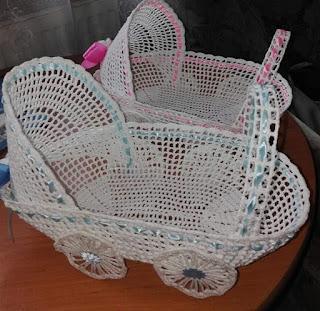 Szydełkowe wózki