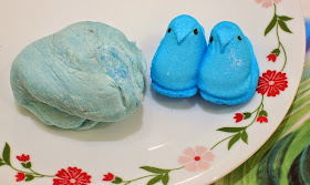 DIY Easter Marshmallow Peeps Play Dough