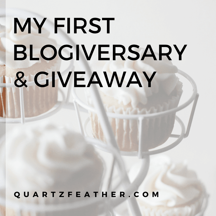 My First Blogiversary & Giveaway