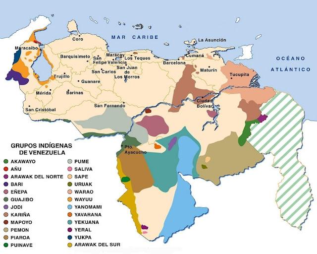 Mapa de los Grupos Indígenas en Venezuela