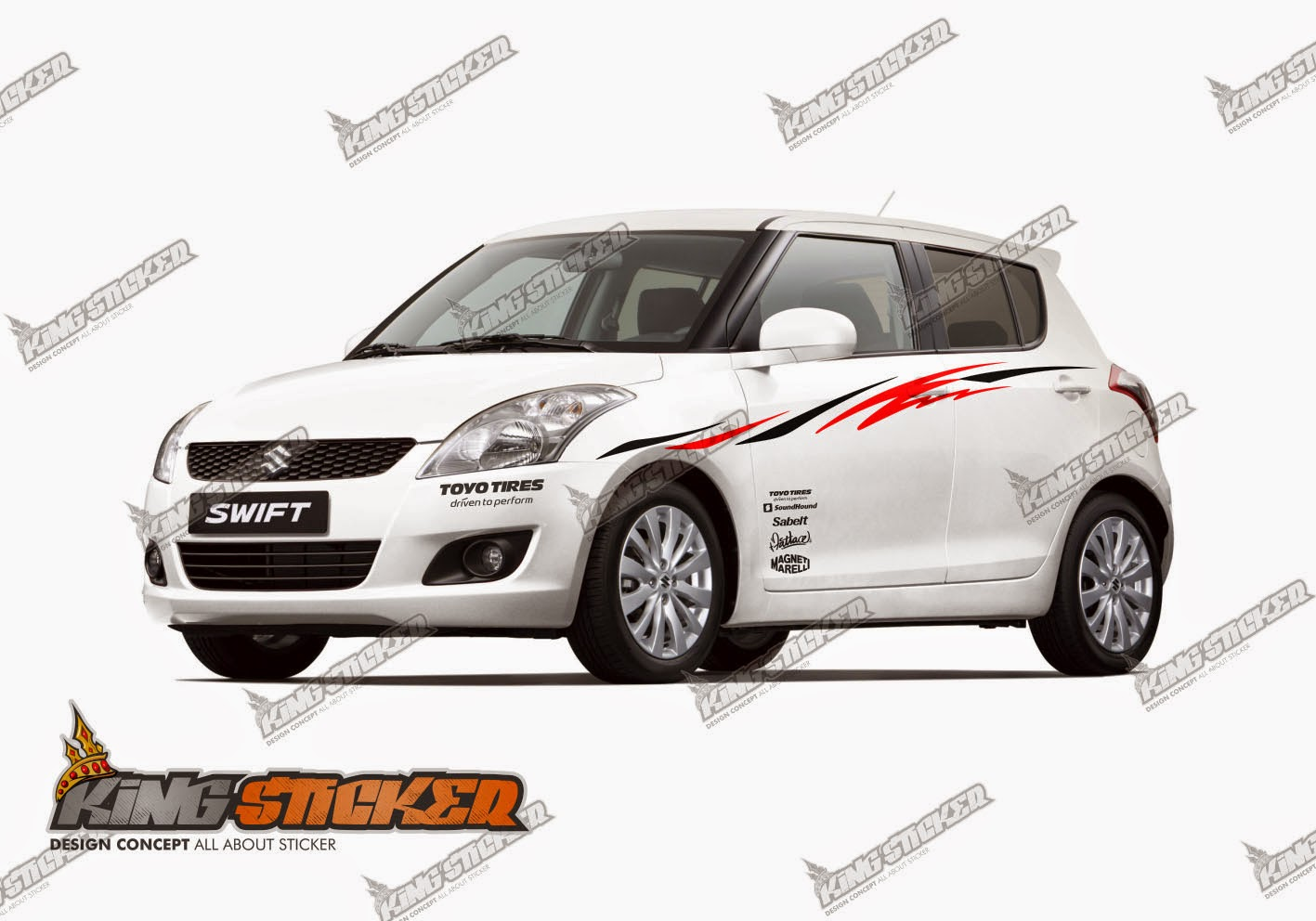 Cutting Sticker Suzuki Swift King Sticker Bali