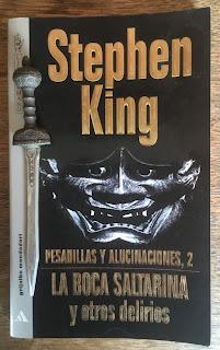 Portada del libro La boca saltarina y otros delirios, de Stephen King