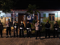 Pastikan Aman, Kapolres Ponorogo Hadiri Tes Kenaikan Sabuk PSHT Ranting Sampung