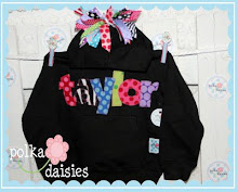 personalized/name hoodies with ribbons