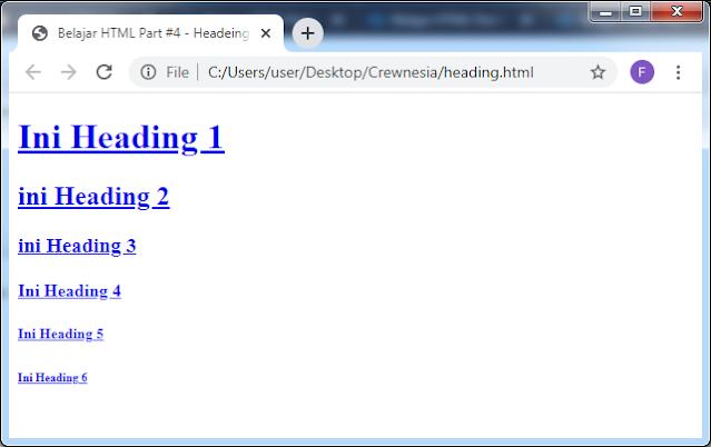 Crewnesia- Heading Pada HTML