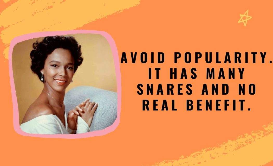 Quotes by Dorothy Dandridge With Quotes Images