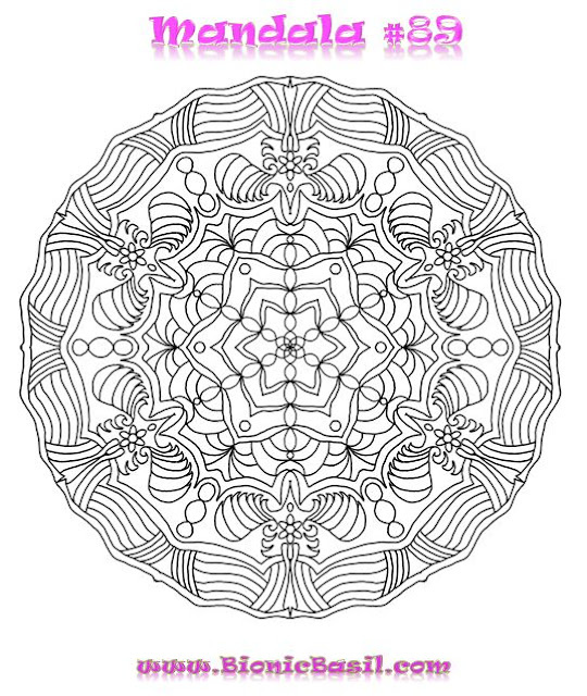 Mandalas on Monday @BionicBasil® Colouring With Cats #89 Downloadable Image
