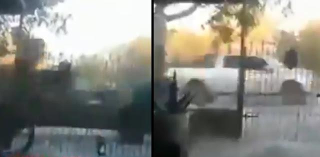 """VIDEO: Impresionante, así fue la pelotera, 2 Unidades del Ejercito hicieron correr a 5 """"Blindadas"""" de la """"valiente"""" Tropa del Infierno del Cartel del Noreste en Nuevo Laredo"""