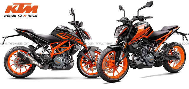 KTM 200 Duke BS6 and KTM 250 Duke BS6 Price in Nepal