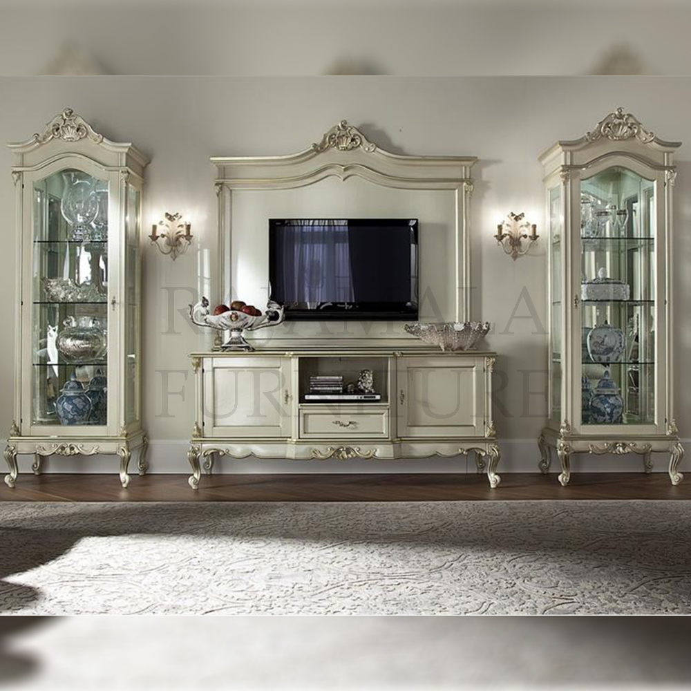 Bufet TV Mewah Art Deco Luxury Carving Jepara RM-0009