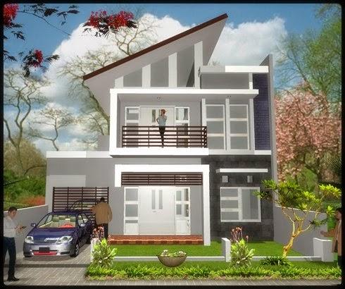 model desain rumah minimalis 2 lantai type 45 dan type 36