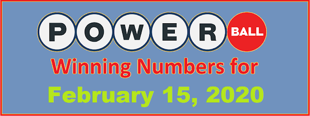 PowerBall Winning Numbers for Saturday, February 15, 2020