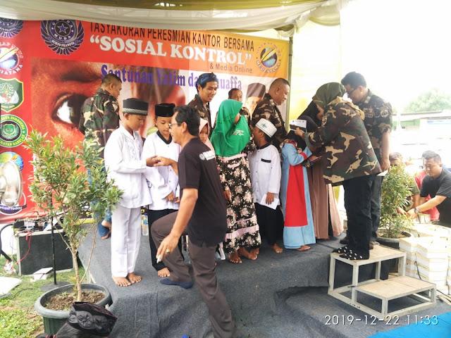 H. Suryo Pranoto Resmikan Kantor SekBer & Berikan Santunan Yatim Piatu