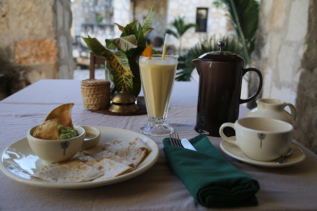breakfast hotel coqui coqui, coba, yucatan, Mexico