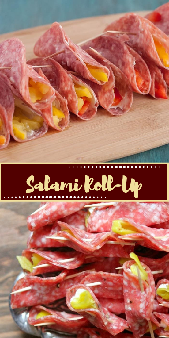 Salami Roll-Up #healthyfood #dietketo #breakfast #food