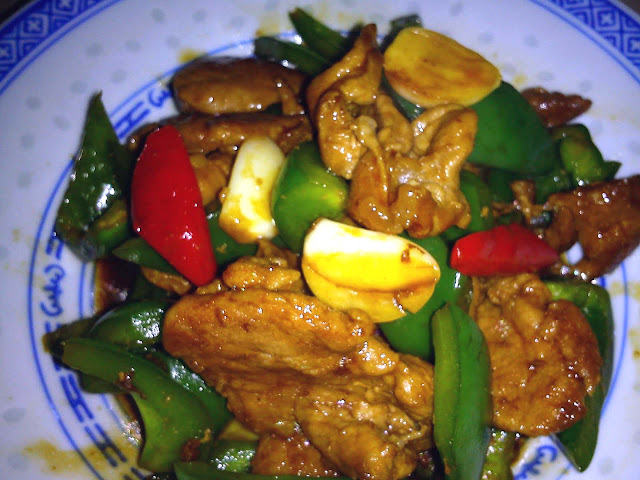 Pork with Green Capsicums