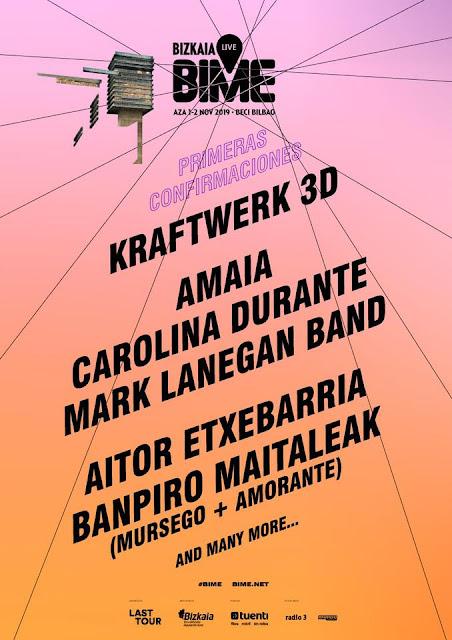 BIME, 2019, cartel, kraftwerk, amaia, carolina durante, bilbao, festival