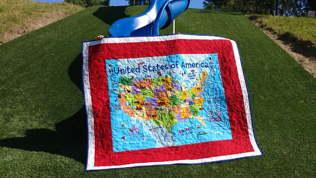 USA map panel quilt