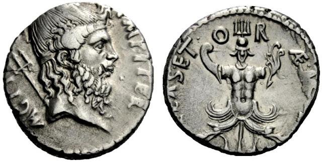 denario de Sexto Pompeyo