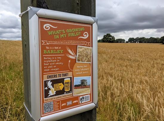 Information sign alongside Knebworth footpath 34