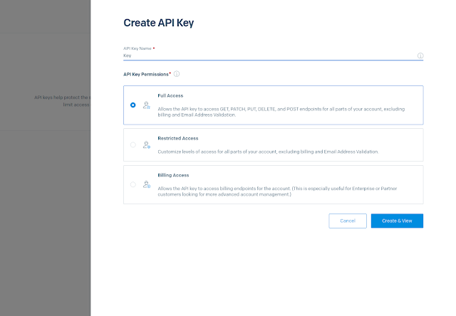 Generating API Keys