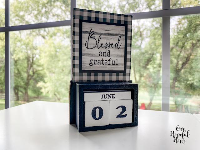 wooden blocks dates numbers perpetual calendar