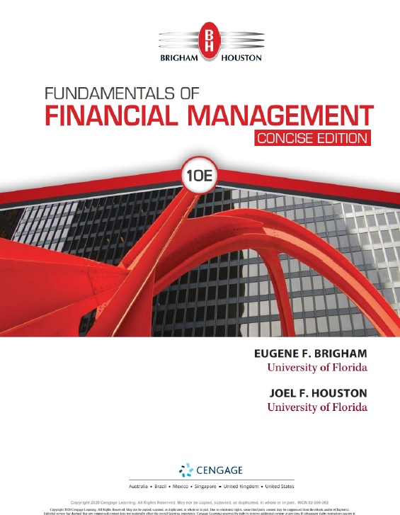 Fundamentals of Financial Management, Concise, 10th Edition