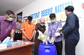 Musnahkan Sabu 1.220,7 gram,Kabid Humas Polda Kepri:Dari Dua Kasus Penangkapan
