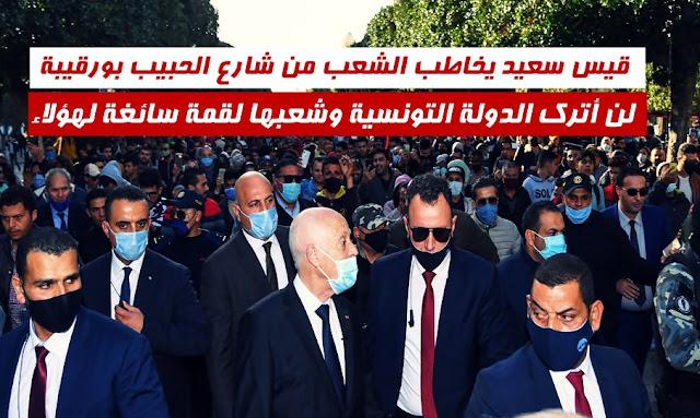 Kais Saied en visite-surprise à l'avenue Habib Bourguiba