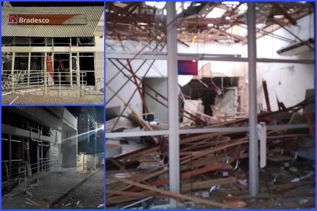 Grupo armado invade agência bancária e explode cofre em Itiruçu