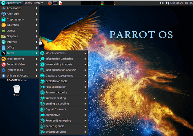 Penetration Testing Linux Based Operating System Parrot 4 0