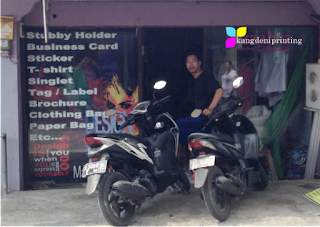 Printing Shop Image Location in Kuta Bali Area