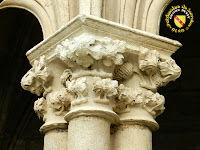 Toul - Cathédrale Saint-Etienne : Chapiteau à feuillage du cloître