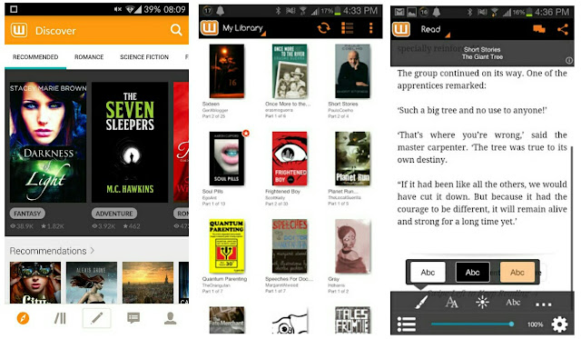 wattpad free books screenshots
