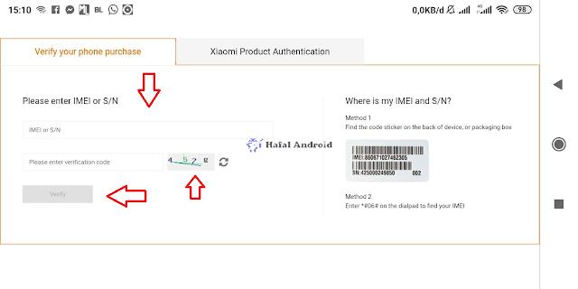 Cek Keaslian Xiaomi dengan IMEI dari Situs Resmi