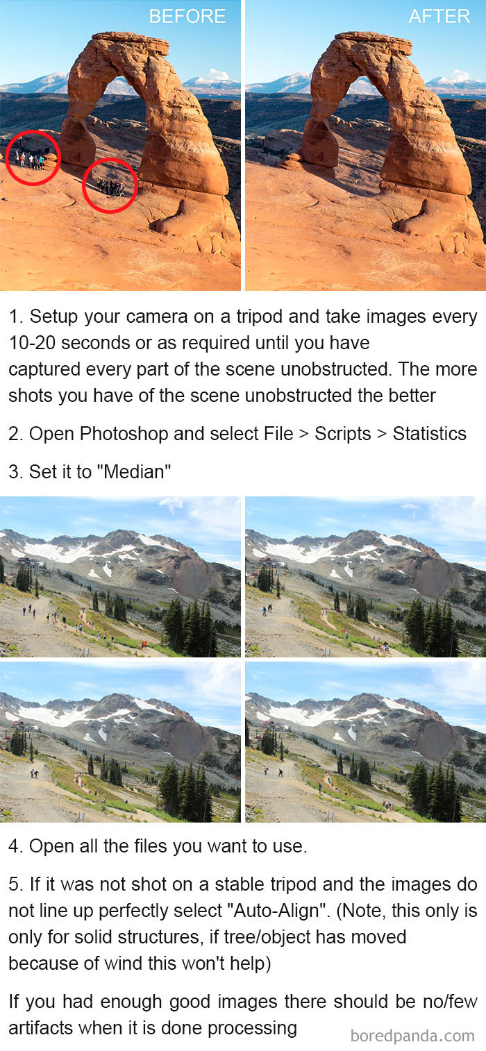 #10 Remove Tourists From Your Pictures Using These Simple Steps - 10 Genius Camera Hacks That Will Greatly Improve Your Photography Skills In Less Than 3 Minutes