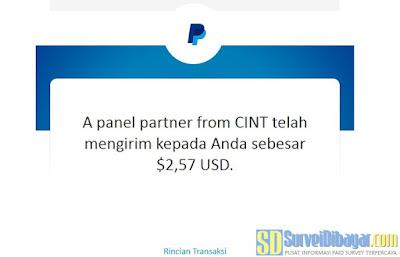 Saldo PayPal hasil penukaran poin FuturTalker | SurveiDibayar.com