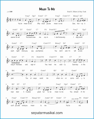 mean to me lagu jazz standar