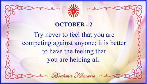 Thought For The Day October 2