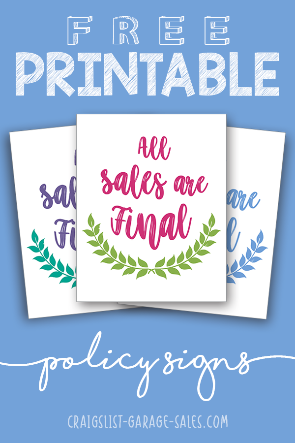 photo relating to Printable Garage Sale Signs identified as Free of charge Printables: Lovely \