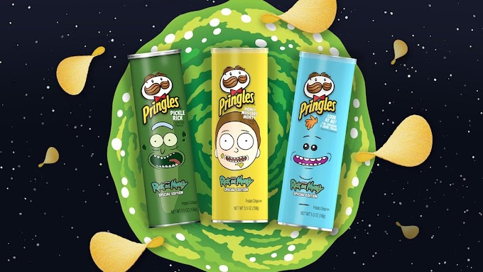 Pringles presenta sus nuevas patatas fritas inspiradas en RICK AND MORTY