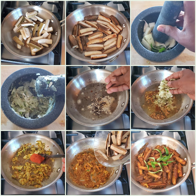 images of Chettinad Vazhakkai Fry / Chettinad Vazhakkai Varuval  Chettinad Raw Bannana Fry / Raw Banana Fry / Valakai Fry