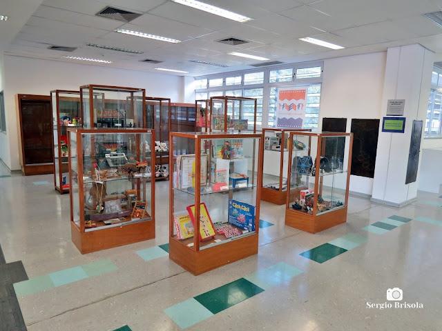 Vista interior de parte do Museu da Educação e do Brinquedo USP - Butantã - São Paulo