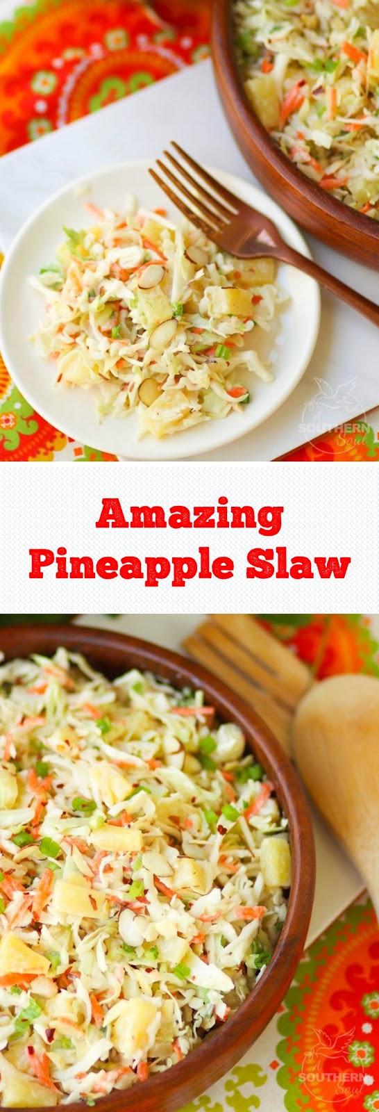 Amazing Pineapple Slaw
