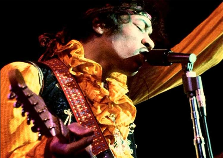 Jimi Hendrix plays Monterey Pop in the documentary Jimi Plays Monterey.