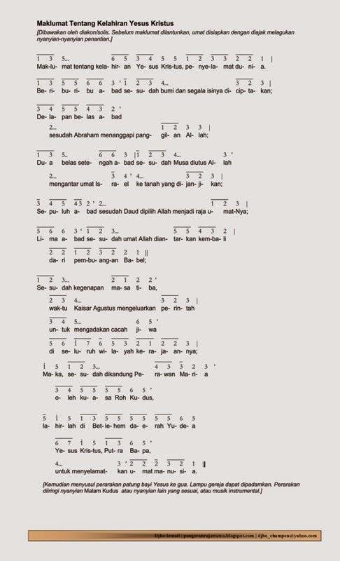 Lirik Lagu Yesus Kristus Tuhan : lirik, yesus, kristus, tuhan, Koor:, Maklumat, Tentang, Kelahiran, Yesus, Kristus