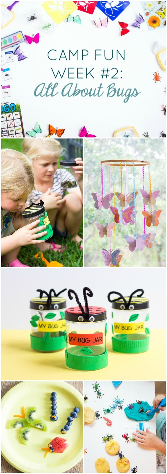 "Camp Fun ""All About Bugs"" - check out all these creepy crawly bug activities for kids summer camp at home!"