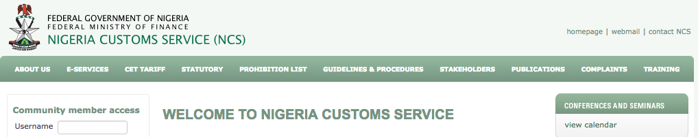 Nigerian Custom Service Recruitment Starting Date 2018